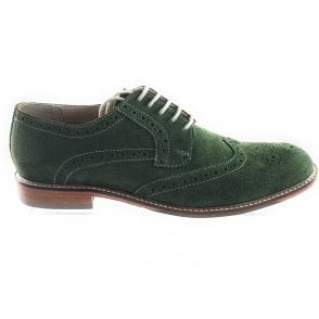 Sebastian Green Suede Lace-Up Brogue