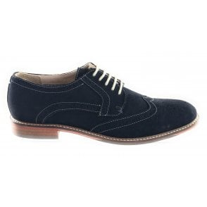 Sebastian Navy Suede Lace-Up Brogue