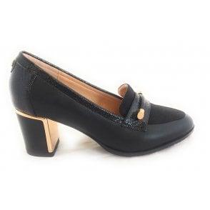 Selina Black Court Shoe