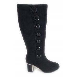 Sheila Black Knee High Boots