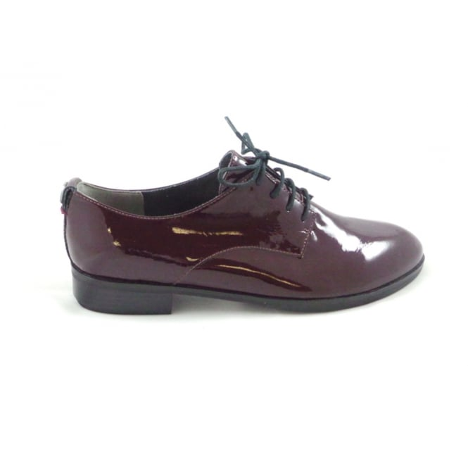 Sherly 02 Burgundy Patent Leather Lace-Up Shoe