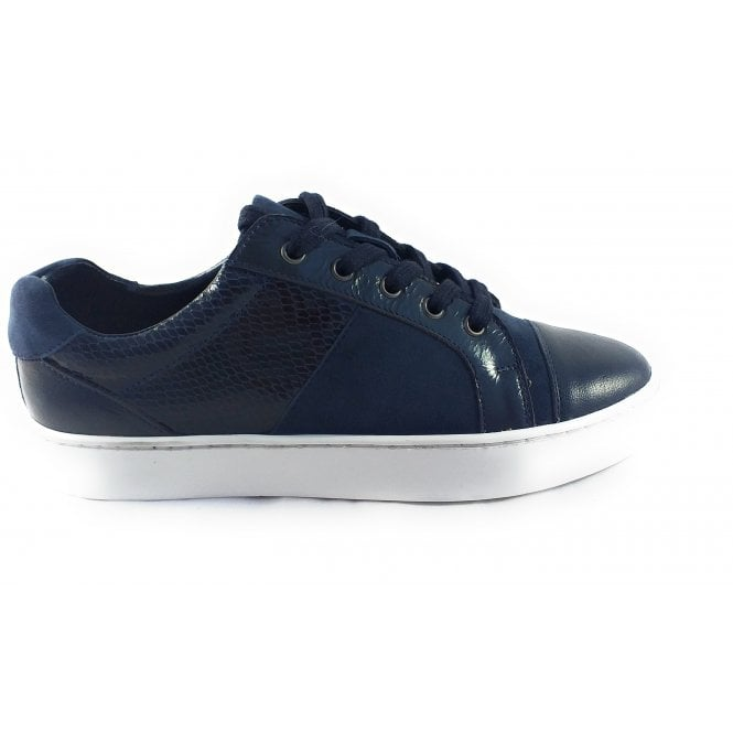 Lotus Sherlyn Navy Leather Trainer