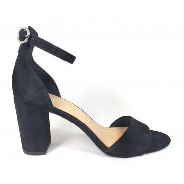 Silvana Evo 411-91180-3400 Black Suede Heeled Sandals