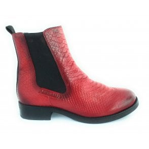 Sinja Red Leather Chelsea Boots