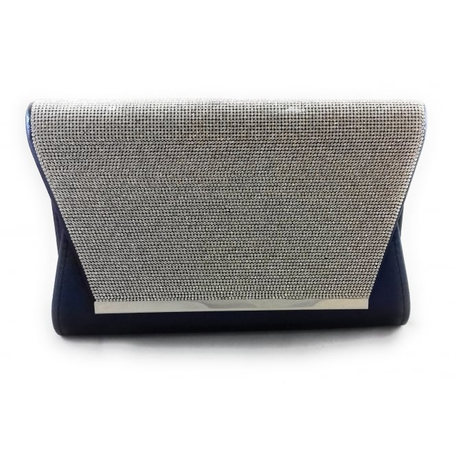65d2296058dd Lotus Skylar Navy and Silver Diamante Clutch Bag - Lotus from  size4footwear.com UK