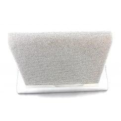 Skylar Silver Diamante Clutch Bag