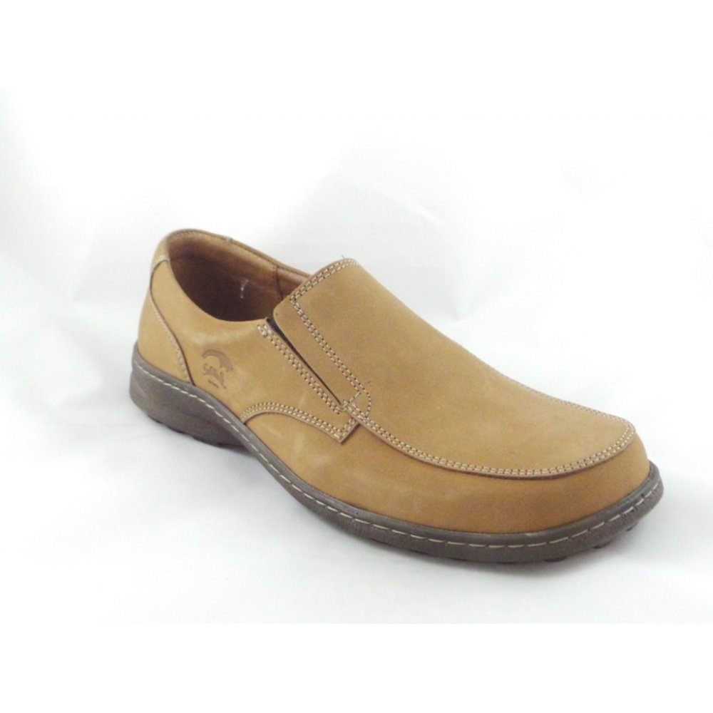 softwalk mens nubuck leather slip on casual shoe