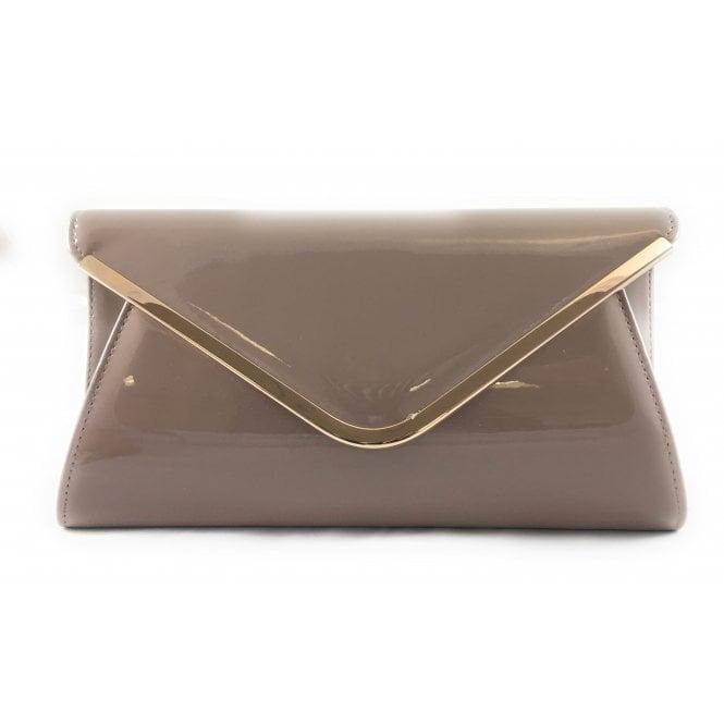 Lotus Sommerton Dark Nude Patent Handbag