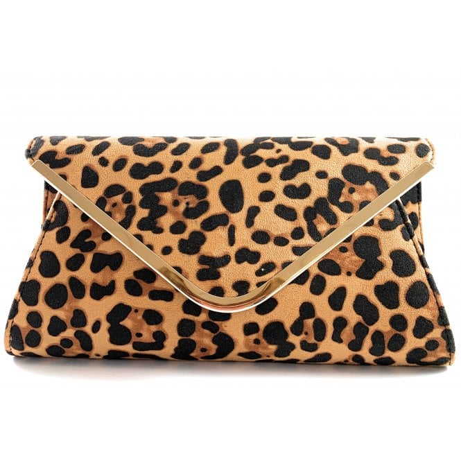 Lotus Sommerton Leopard Print Microfibre Occasion Bag