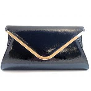Sommerton Navy Crinkle Patent Handbag