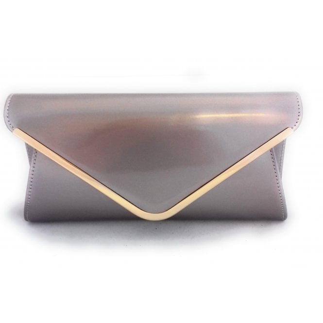 Lotus Sommerton Oyster Pink Patent Clutch Bag