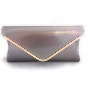 Sommerton Oyster Pink Patent Clutch Bag