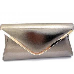 Sommerton Pewter Metallic Clutch Bag