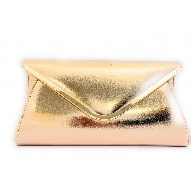 Lotus Sommerton Rose Gold Metallic Clutch Bag