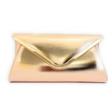 Sommerton Rose Gold Metallic Clutch Bag