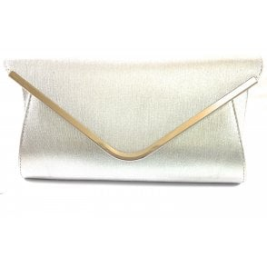 Sommerton Silver Metallic Clutch Bag