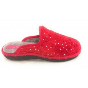Sonic Red Metallic Spot Slipper