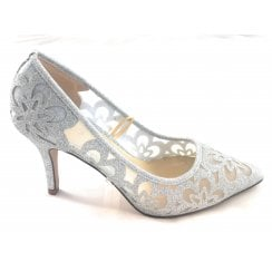 Sparkle Silver Glitz Court Shoe