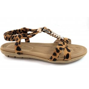 Stacey Leopard Print Sandal
