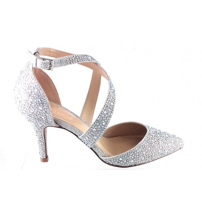 9f170cc4546d Lotus Star Silver Diamante Court Shoe - Lotus from size4footwear.com UK