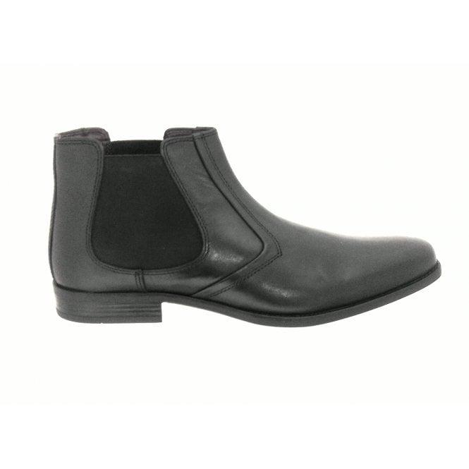 Lotus Stedman Black Leather Men's Chelsea Boot
