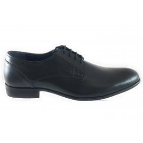 Stillman Black Leather Lace-Up Shoe