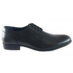 Stillman Black Leather Lace-Up Shoe