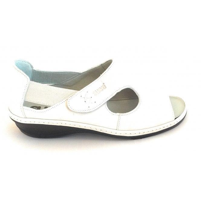 Suave Stone Leather Closed Heel Sandal