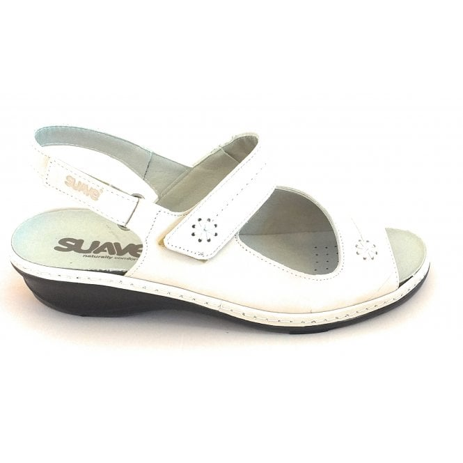 Suave Stone Leather Wide Fit Sandal