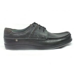 Streatley Black Leather Lace-Up Casual Shoe