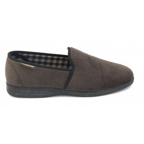 Swale Mens Brown Slippers