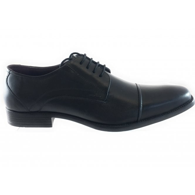 Lotus Swinford Black Leather Lace-Up Shoe