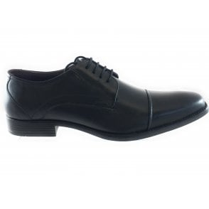 Swinford Black Leather Lace-Up Shoe