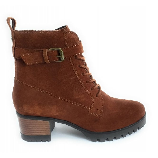 Lotus Sydney Tan Suede Ankle Boot
