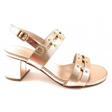 Talia Rose Gold Heeled Sandal