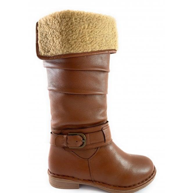 Lotus Talitha Tan Leather Knee-High Boot