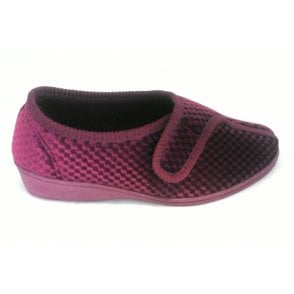 Talma Rose Pink Velcro Fastener Slipper