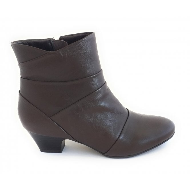Lotus Tamara Brown Leather Ankle Boot