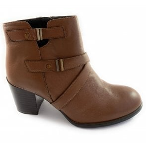Tan Leather Ankle Boot