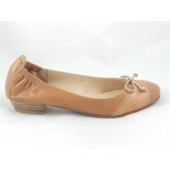 Tan Leather Ballerina Shoe