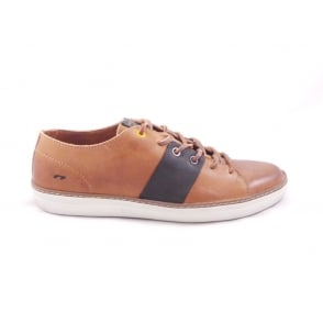 Tan Leather Lace-Up Mens Casual Shoe