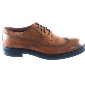 Tan Leather Lace-Up Shoe
