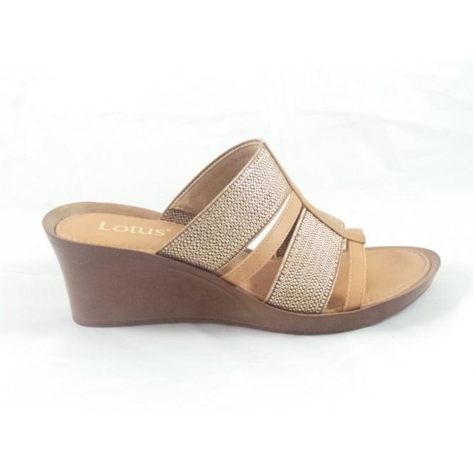 80346311ede6de Lotus Tan Leather Open Toe Mule Sandal - Lotus from size4footwear.com UK
