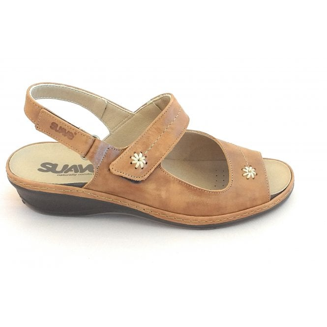 Suave Tan Leather Wide Fit Sandal