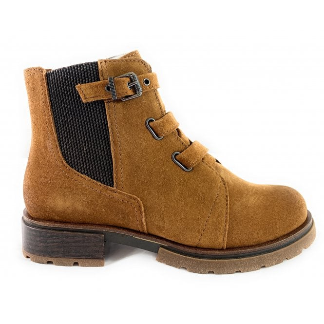 Marco Tozzi Tan Suede Ankle Boot