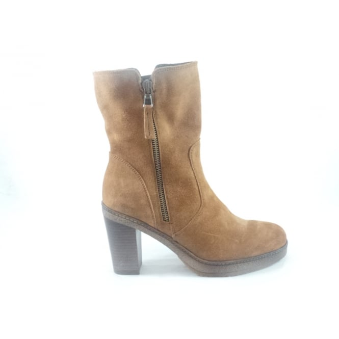 Tan Suede Mid Calf Boot