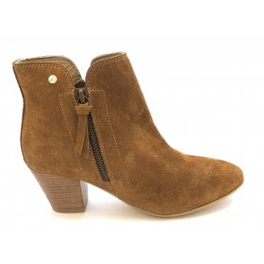 Tan Tulli Suede Ankle Boots