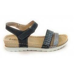Taryn Black Open-Toe Sandal