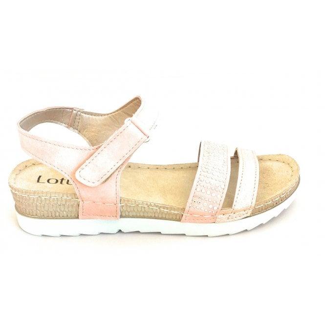 Lotus Taryn Pink Open-Toe Sandal