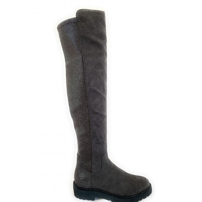 Bugatti Taupe Faux Suede Sparkle Knee High Boots